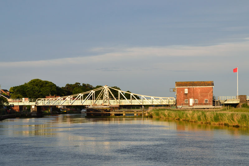 Reedham Swing Bridge on the River Yare
