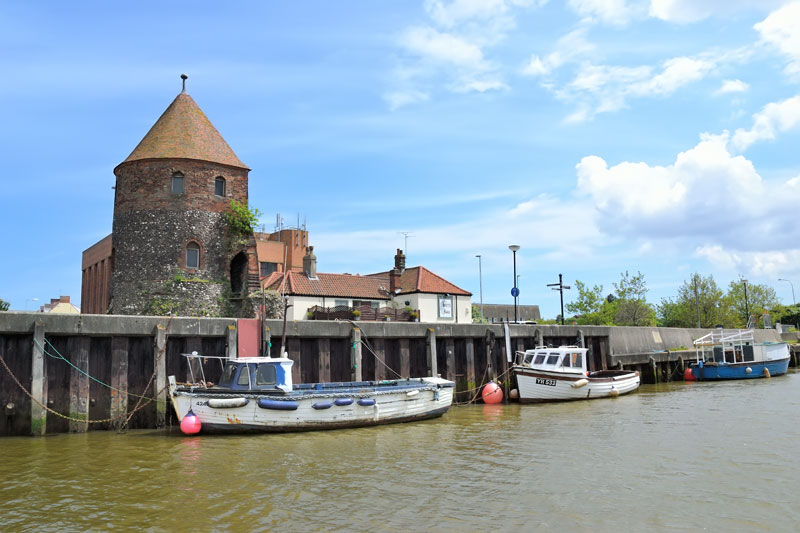 North West Tower at Great Yarmouth beside the River Bure