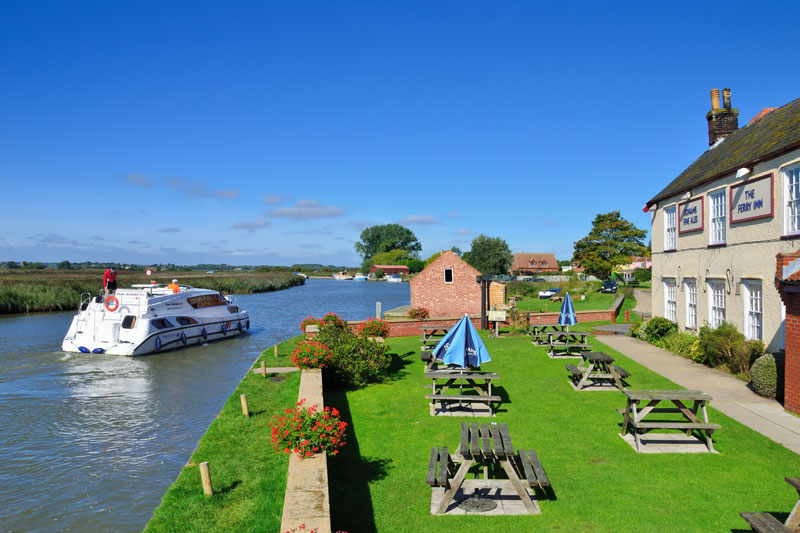 The Ferry Inn at Stokesby on the River Bure