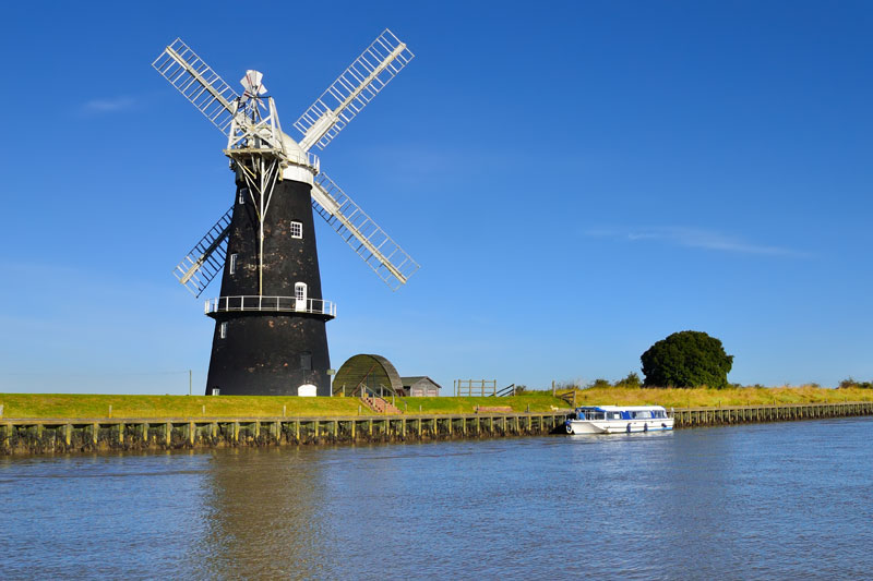 Berney Arms Mill on the River Yare
