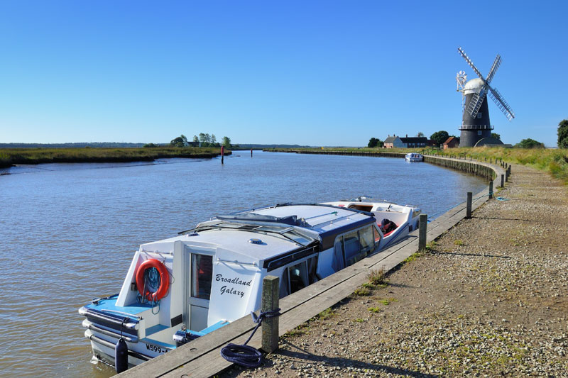 Berney Arms Reach Moorings