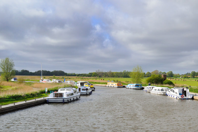 Broads Authority Moorings at Horning Marshes, Ludham Bridge