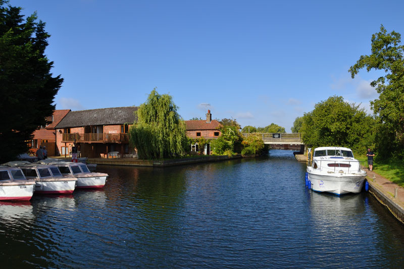 Wayford Bridge and Moorings on the River Ant
