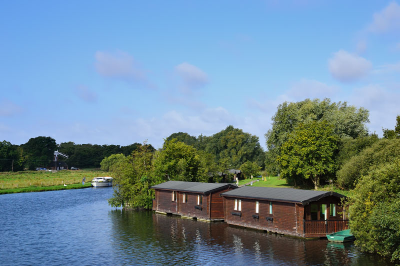 Houseboats on the River Ant at Wayford Bridge