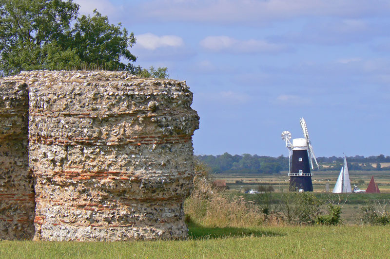 Berney Arms Mill from Burgh Castle - Photo by www.tournorfolk.co.uk