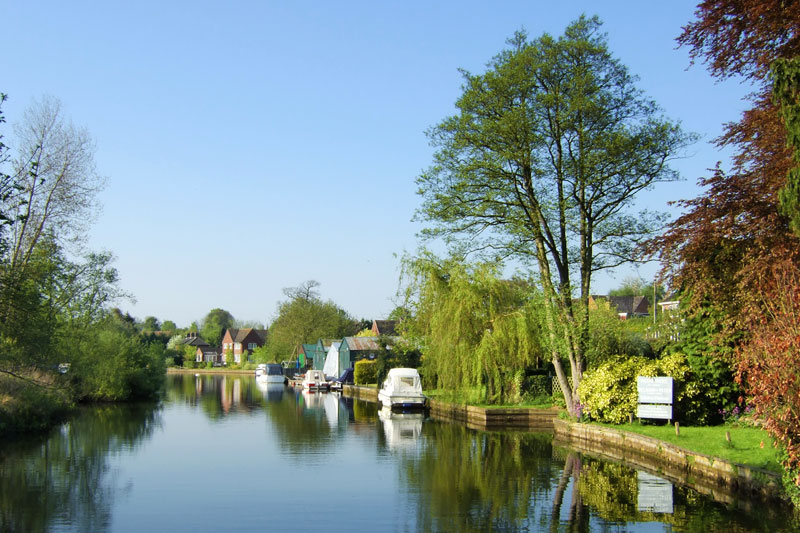 Belaugh and St Peter's Church Moorings on the River Bure