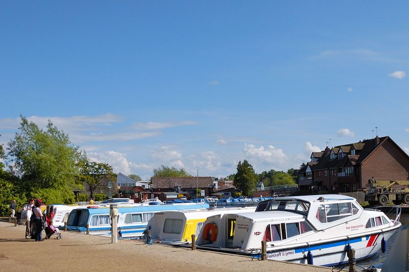 Hoveton Staithe beside Wroxham Bridge