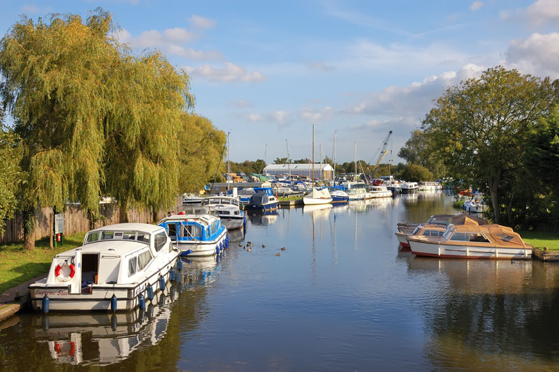 Broads Authority Moorings at Wayford Bridge