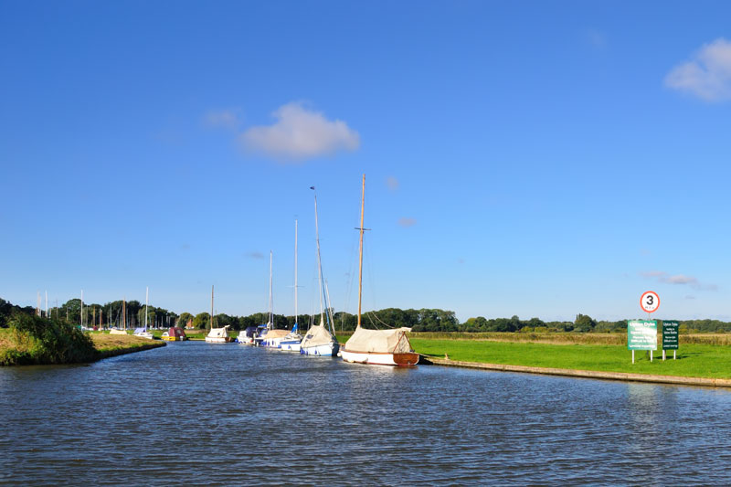 Entrance to Upton Dyke on the River Bure