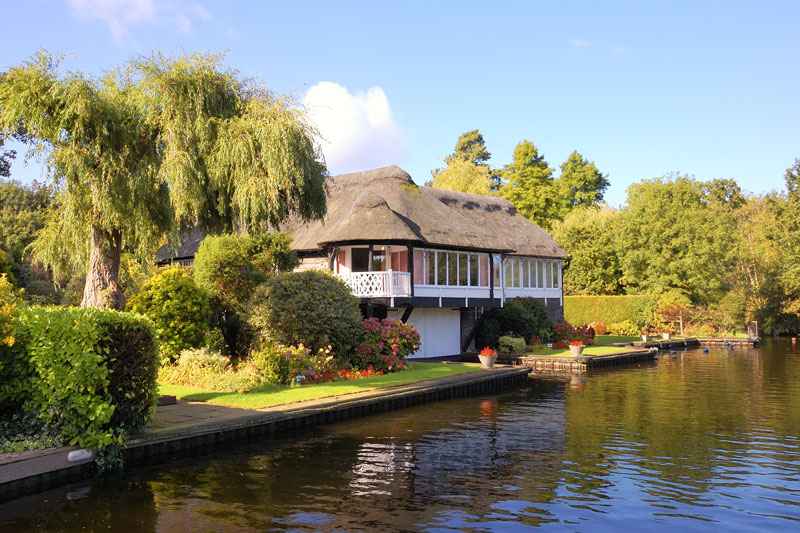 A Thatched Cottage at Irstead Shoals on the River Ant