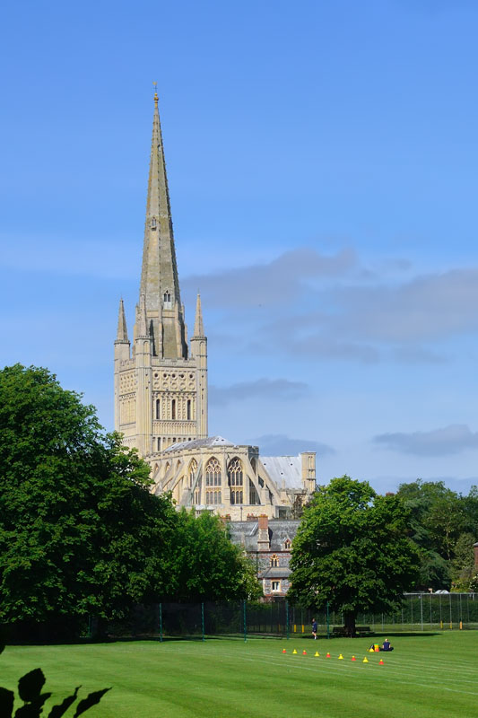 Norwich Cathedral from the Riverside Path