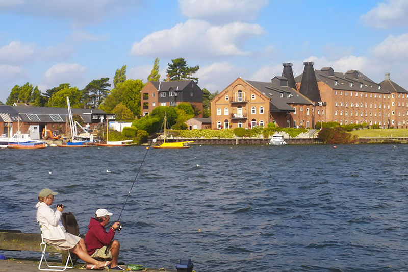 Fishing opposite Swonnells Maltings on Oulton Broad