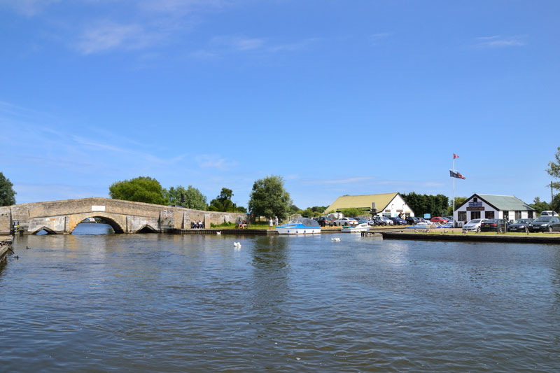 Potter Heigham Bridge and Pilots Moorings