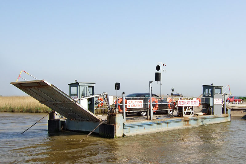 Reedham Chain Ferry Crossing the River Yare