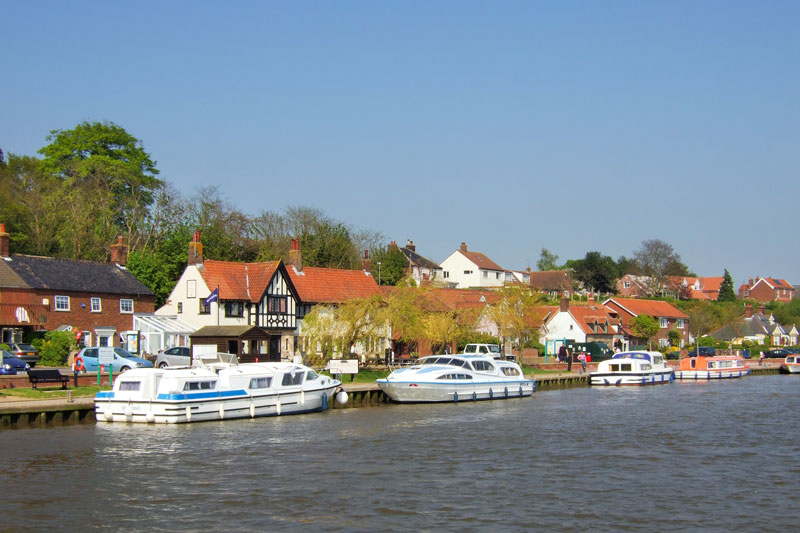 Reedham Quay from the River Yare