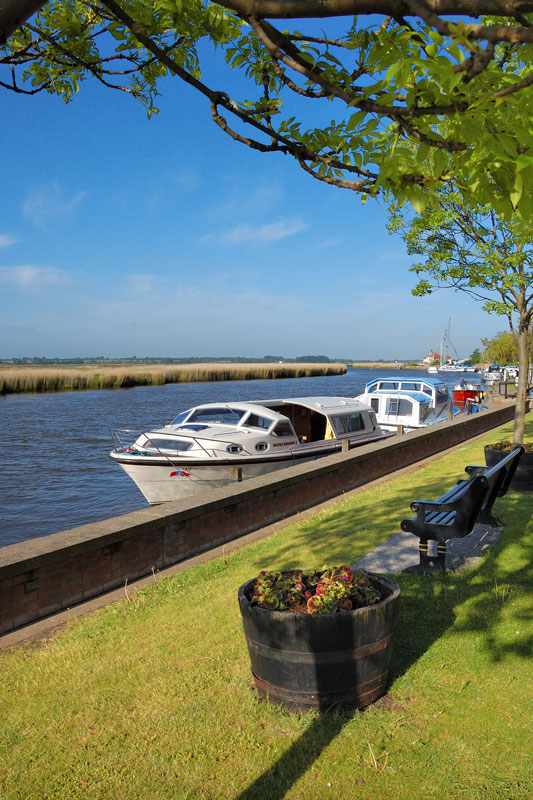 Boats Moored at Reedham Quay on the River Yare