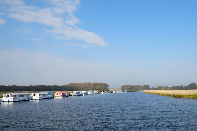 River Bure at Acle Looking Upstream