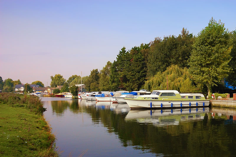 Boatyards at Chedgrave on the River Chet