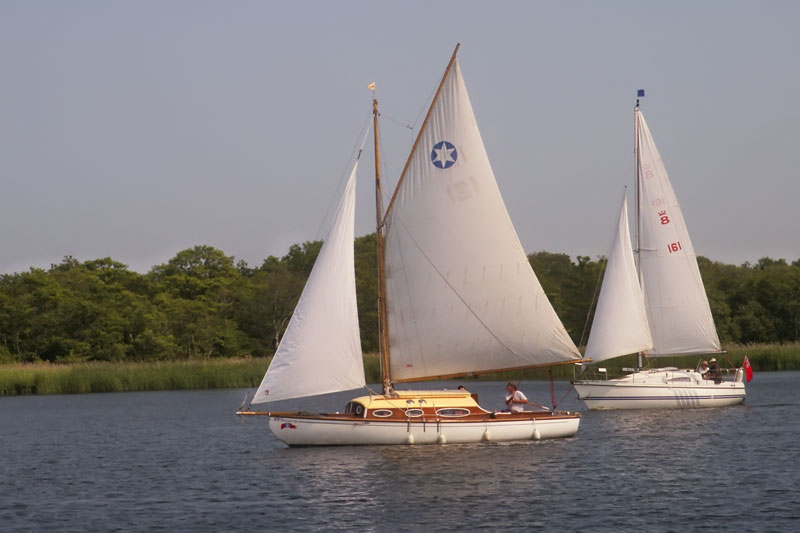 Yachts on Barton Broad