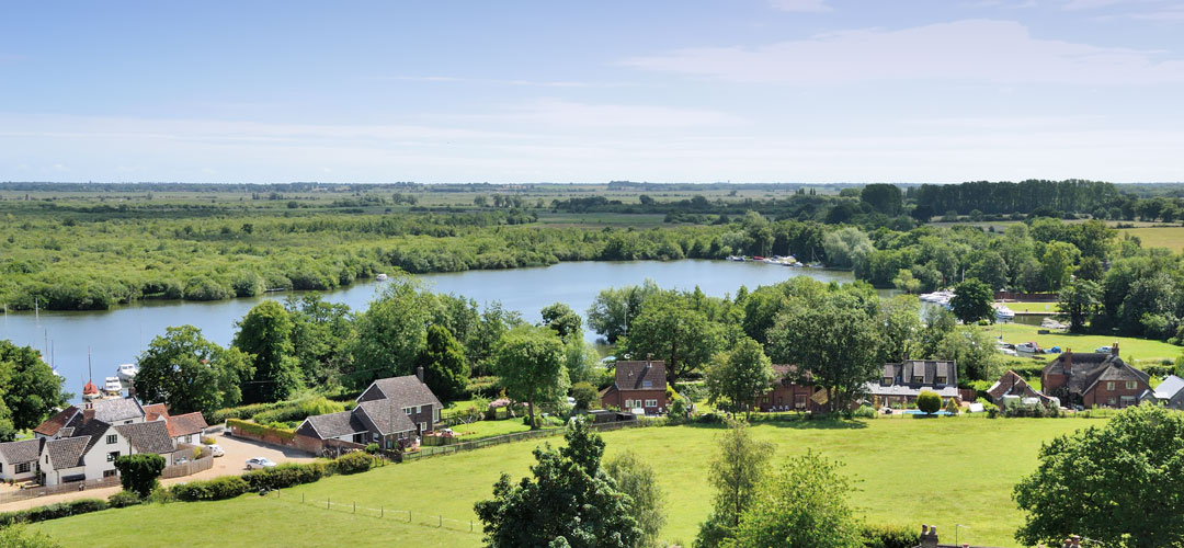 Malthouse Broad from St Helen's Church