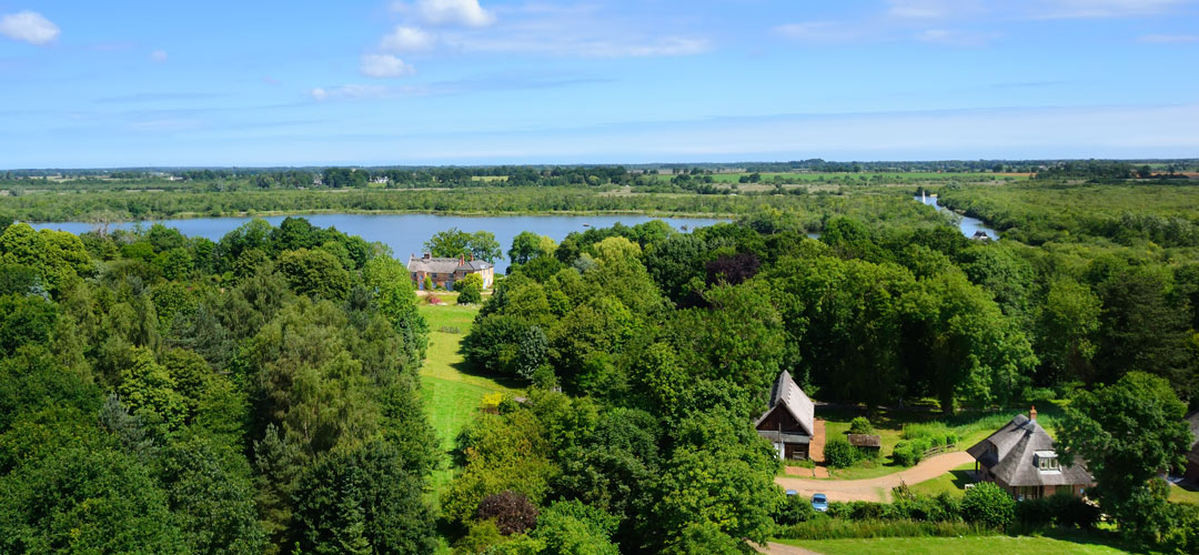 Ranworth Broad from St Helen's Church