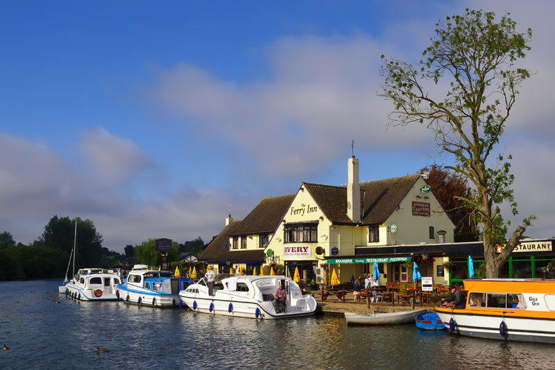 The Ferry Inn on the River Bure at Horning Ferry