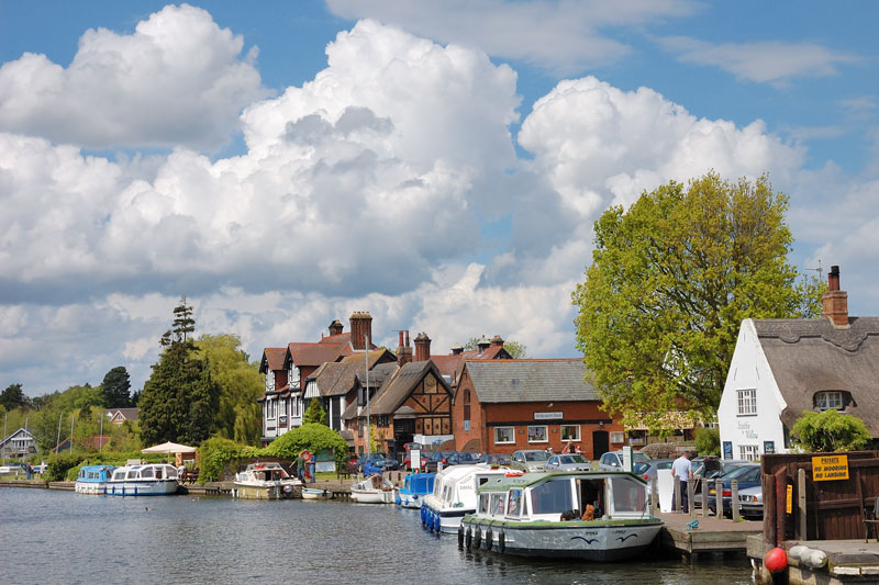 Horning Staithe on the River Bure