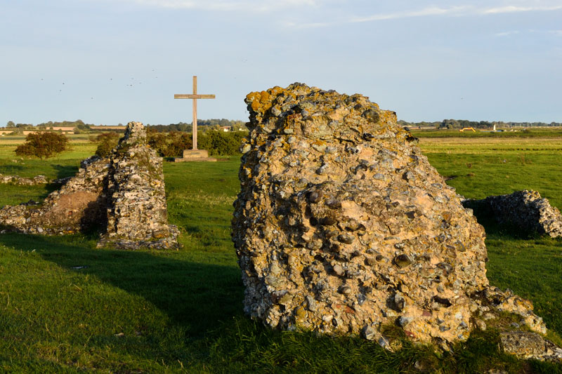 The Cross and Walls of St Benet's Abbey
