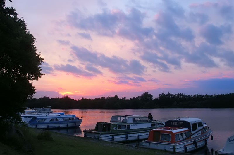 Sunset over Salhouse Broad
