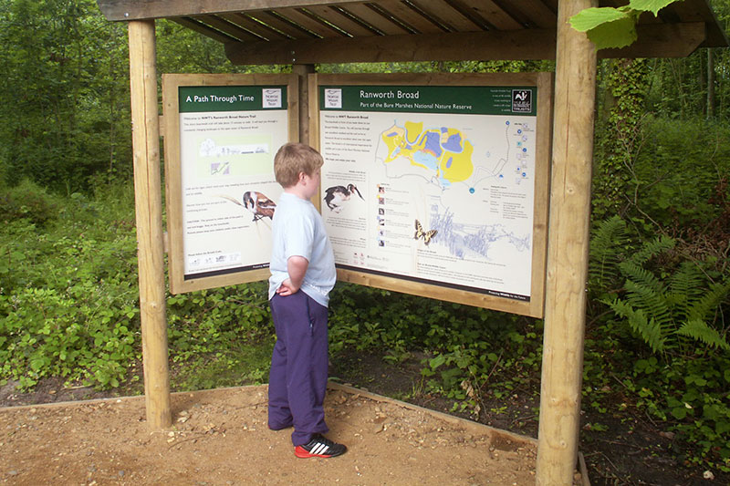 Information point at the start of the trail to Ranworth Broad