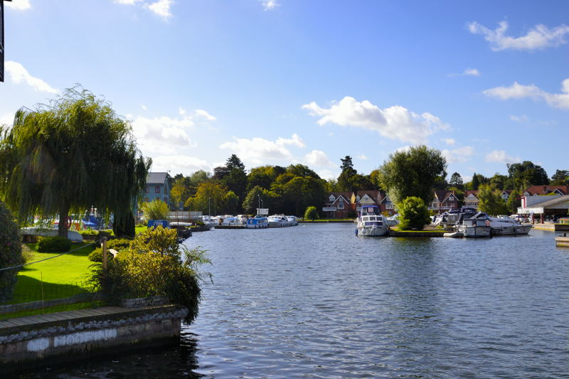 The River Bure at Wroxham looking downstream